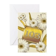 103rd birthday card with lovely daisies Greeting C