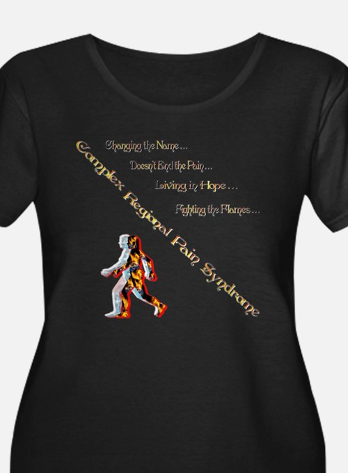 CRPS- Living Fighting the flame Plus Size T-Shirt