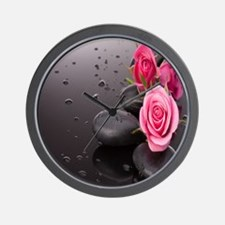Rose&Rocks Wall Clock