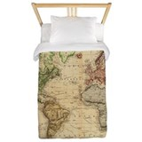 World map Luxe Twin Duvet Cover