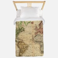 Vintage Map of The World (1831) Twin Duvet