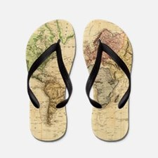 Vintage Map of The World (1831) Flip Flops