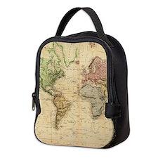 Vintage Map of The World (1831) Neoprene Lunch Bag