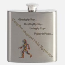 CRPS- Living Fighting the flame Flask