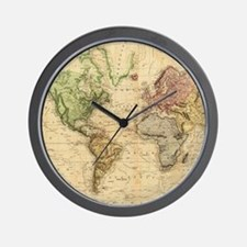 Vintage Map of The World (1831) Wall Clock