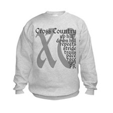 Cross Country XC grey gray Jumper Sweater