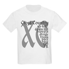 Cross Country XC grey gray T-Shirt