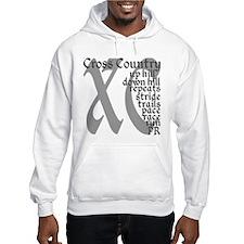 Cross Country XC grey gray Jumper Hoodie