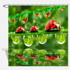 Cute Spring garden Shower Curtain