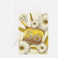 56th birthday card with lovely daisies Greeting Ca