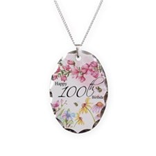 100th Birthday Watercolor Necklace