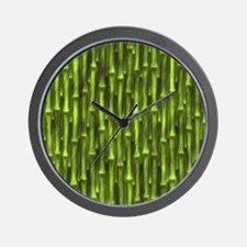 Green Bamboo Forest Wall Clock