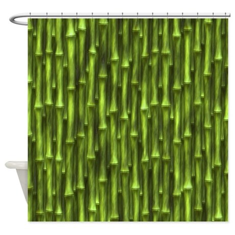 Green Bamboo Forest Shower Curtain By Phantasmdesigns
