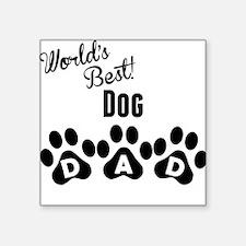 Worlds Best Dog Dad Sticker