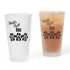 Worlds Best Dog Dad Drinking Glass