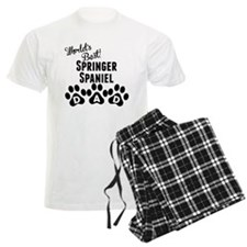 Worlds Best Springer Spaniel Dad Pajamas