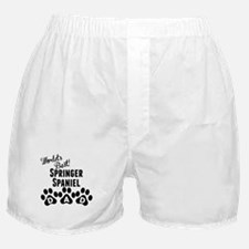 Worlds Best Springer Spaniel Dad Boxer Shorts