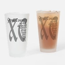 Cross Country XC grey gray Drinking Glass
