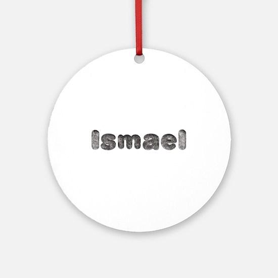 Ismael Wolf Round Ornament
