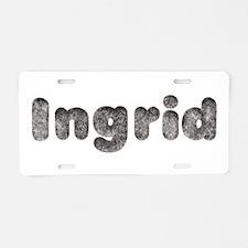 Ingrid Wolf Aluminum License Plate