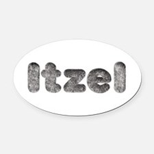 Itzel Wolf Oval Car Magnet