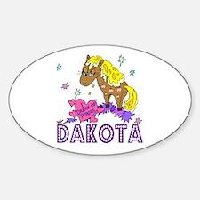I Dream Of Ponies Dakota Oval Decal