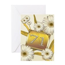 71st birthday card with lovely daisies Greeting Ca