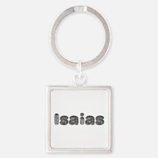 Isaias Wolf Square Keychain