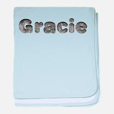 Gracie Wolf baby blanket
