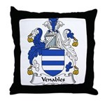 Venables Family Crest Throw Pillow