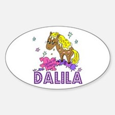 I Dream Of Ponies Dalila Oval Decal