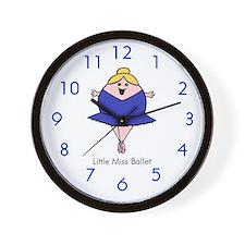 Little Miss Ballet Wall Clock
