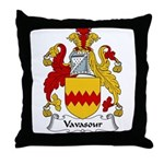 Vavasour Family Crest Throw Pillow