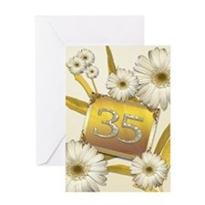 35th birthday card with lovely daisies Greeting Ca