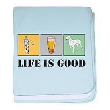 Life Is Good baby blanket