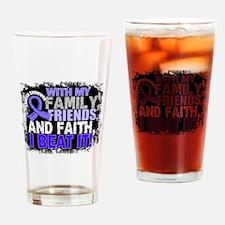 Esophageal Cancer Survivor FamilyFr Drinking Glass