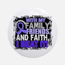 Esophageal Cancer Survivor Family Ornament (Round)