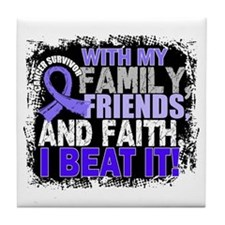 Esophageal Cancer Survivor FamilyFrie Tile Coaster