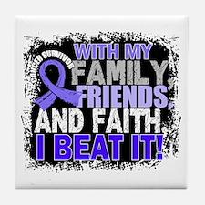 Esophageal Cancer Survivor FamilyFrie Tile Coaster