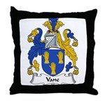Vane Family Crest Throw Pillow