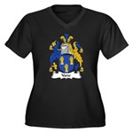 Vane Family Crest Women's Plus Size V-Neck Dark T-