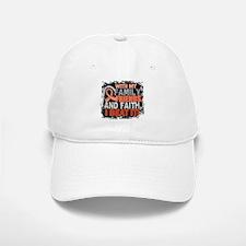 Endometrial Cancer Survivor FamilyFriendsFaith Baseball Baseball Cap