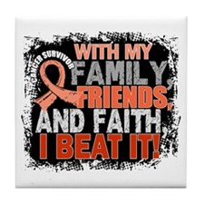 Endometrial Cancer Survivor FamilyFri Tile Coaster
