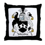 Valentine Family Crest Throw Pillow