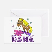 I Dream Of Ponies Dana Greeting Card