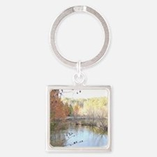 Skies Across the Pond Square Keychain