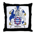 Valence Family Crest Throw Pillow