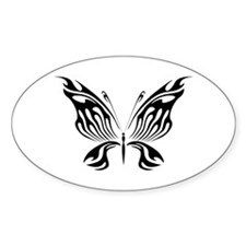BUTTERFLY 2 Oval Decal