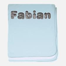 Fabian Wolf baby blanket