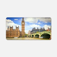 London Bridge And Big Ben Aluminum License Plate